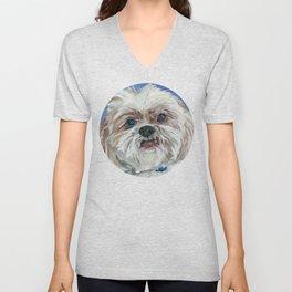 Ruby the Shih Tzu Dog Portrait Unisex V-Neck