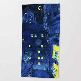 music of the night Beach Towel