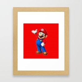 Mario - Toy Building Bricks Framed Art Print