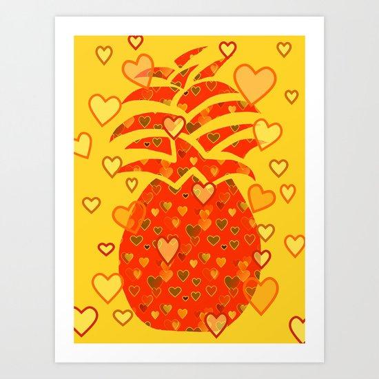 I Love Pineapple Art Print