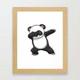 Dabbing Panda Shirt Bear Funny Dab Men Kids Gift Framed Art Print