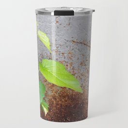 Fresh green with rusty grey Travel Mug