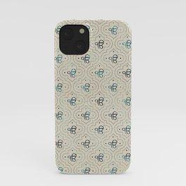 Gold and Abalone Ek Onkar / Ik Onkar pattern iPhone Case