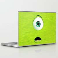 monster inc Laptop & iPad Skins featuring Monster Inc Mike by Veylow