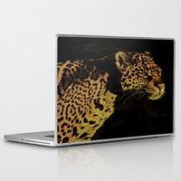 jaguar Laptop & iPad Skins featuring Jaguar by Die Farbenfluesterin
