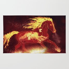 Fire Horse Rug