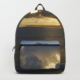 Sunrise with storm colouds Backpack