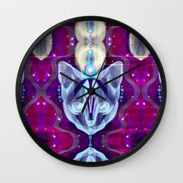 Pixel Galacticat Mirror Wall Clock