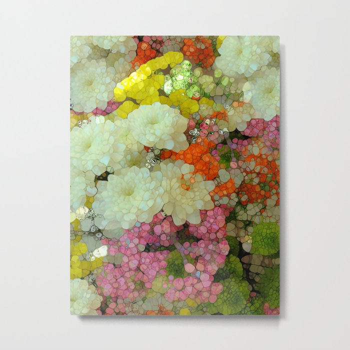 Joyous Spring Bouquet Metal Print