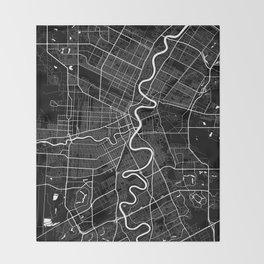 Winnipeg - Minimalist City Map Throw Blanket