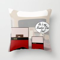 "picard Throw Pillows featuring ""Number One Dad"" Minimalist Star Trek TNG The Next Generation Picard startrek Fathers Day Father's  by Trektangles"