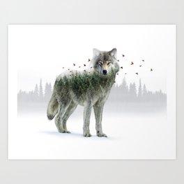 Wild I Shall Stay | Wolf Art Print