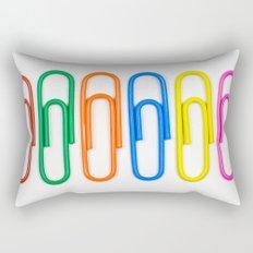 Colorful Paperclips Rectangular Pillow
