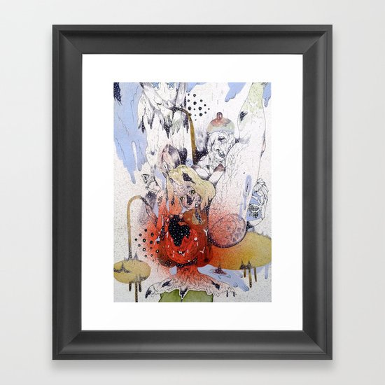 em poor mint Framed Art Print