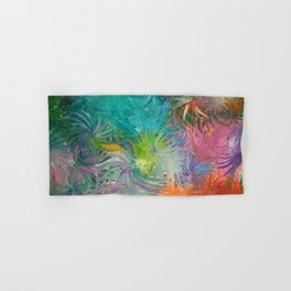 It's time to Flower - Abstract colorful Flowers Hand & Bath Towel