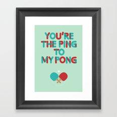 Love is like ping pong Framed Art Print