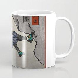 Rock Climbing Samurai Deep Water Soloing Coffee Mug