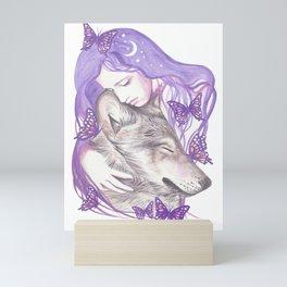 Sleeping Wolves Mini Art Print