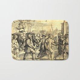 Petrarch's Triumph of Fame Bath Mat