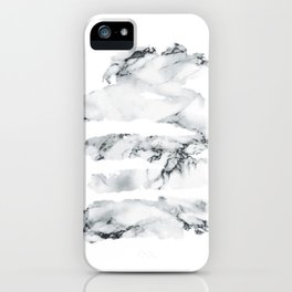 Marble stains iPhone Case