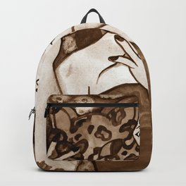 Hunter Behind The Mask - Sepia Backpack