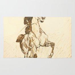 """Henri de Toulouse-Lautrec """"Amazone"""" Rug"""