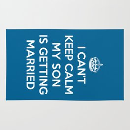 Keep Calm Son Married Quote Rug
