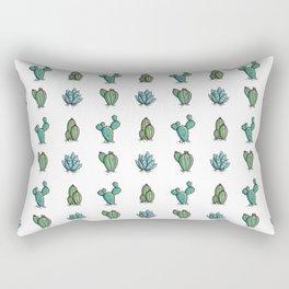 Kawaii Cute Desert Cacti Plants Rectangular Pillow
