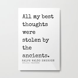 70   | Ralph Waldo Emerson Quotes | 200727 Metal Print