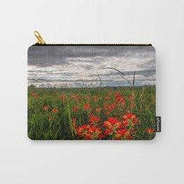 Brighten the Day - Indian Paintbrush Wildflowers in Eastern Oklahoma Carry-All Pouch