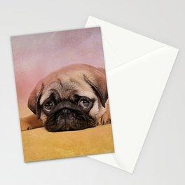 Pug puppy  Digital Art Stationery Cards