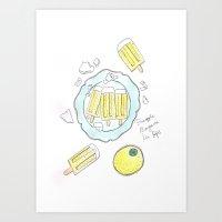 Pineapple Ice Pops Art Print