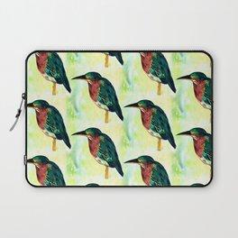 Green Heron Watercolor Laptop Sleeve
