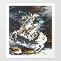 napoleon Art Prints featuring Napoleon by FakeFred