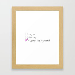Multiple Book Boyfriends (grey&purple) Framed Art Print