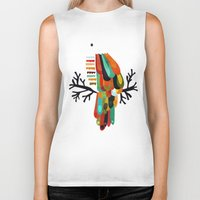 paradise Biker Tanks featuring Paradise by Picomodi
