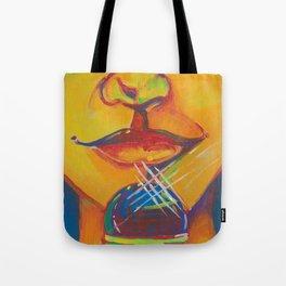 Mic Kiss Tote Bag