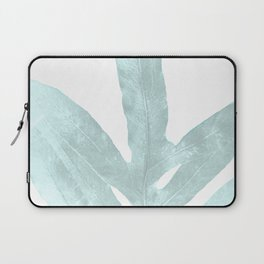 Ice Blue Fern in Summer White Laptop Sleeve