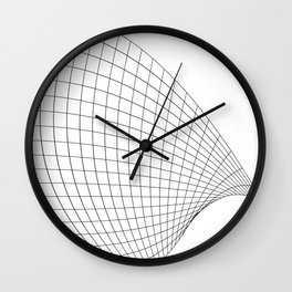 Abstract wireframed waving surface Wall Clock