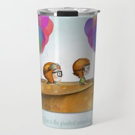 UP Pixar — Love is the greatest adventure  Travel Mug