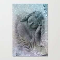 the tired guardian angel -1- Canvas Print