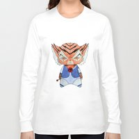 thundercats Long Sleeve T-shirts featuring A Boy - Tygra (Thundercats) by Christophe Chiozzi