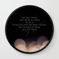 levi Wall Clocks featuring Levi Ackerman by Book Ink Boutique