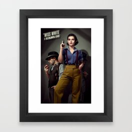 Miss White Framed Art Print