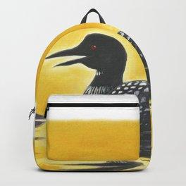 Loon on Lake Simcoe Backpack