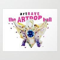 artrave Art Prints featuring ARTPOP artRAVE by KS Art