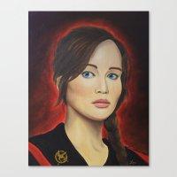 katniss Canvas Prints featuring Katniss by Lauri Loewenberg