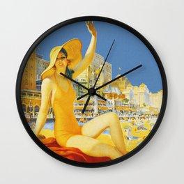 Atlantic City New Jersey - Retro Travel Wall Clock