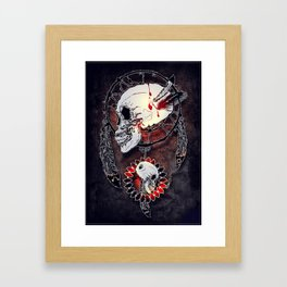 Dream Catcher Skull Framed Art Print