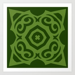 Super Green (Colored Callisto) Art Print